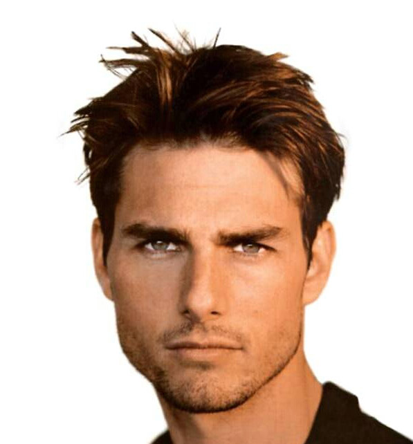tom cruise mission impossible 2 hairstyle. Tom Cruise shaggy hairstyle. He went for a razor cut with angled layers and